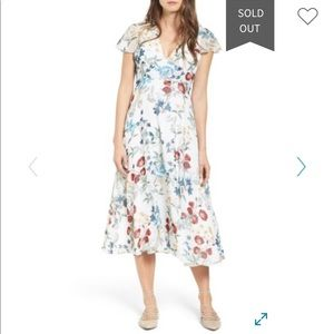 New WILLOW AND CLAY  Floral Midi Dress